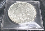 Click here to enlarge image and see more about item 021208005: 1921 Morgan Silver Dollar