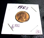 Click here to enlarge image and see more about item 021908001: 1953 Lincoln Penny BU