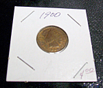 Click here to enlarge image and see more about item 021908006: 1900 Indian head penny.