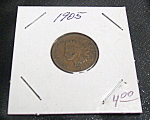 Click here to enlarge image and see more about item 021908007: 1905 Indian head penny.