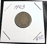Click here to enlarge image and see more about item 022608006: Indian Head Penny 1903