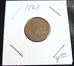 Click here to enlarge image and see more about item 022608013: Indian Head Penny 1903