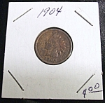 Click here to enlarge image and see more about item 022608014: Indian Head Penny 1904