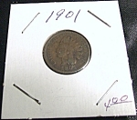 Click here to enlarge image and see more about item 022908001: Indian Head Penny 1901