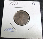 Click here to enlarge image and see more about item 022908013: Lincoln Head Penny 1918 G