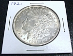 Click here to enlarge image and see more about item 032008005: 1921 Morgan Silver Dollar