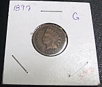 Click here to enlarge image and see more about item 032408003: Indian Head Penny 1897 G