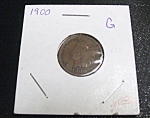 Click here to enlarge image and see more about item 032408006: Indian Had Penny 1900 G