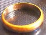 Click here to enlarge image and see more about item 032708001: Wedding Ring 14 karats. Could be man's or woman's