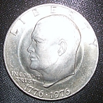 Click here to enlarge image and see more about item 032708002: Eisenhower Dollar Double Golden Anniversary RARE.