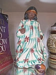 Click here to enlarge image and see more about item 032808003: Rare Indian woman figurine by Leslie Furlong, signed.