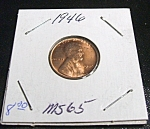 Click here to enlarge image and see more about item 040408005: Lincoln Penny 1946 MS 65