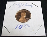 Click here to enlarge image and see more about item 040408011: Lincoln Penny 1987-S Proof