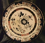 Click here to enlarge image and see more about item 040808001: Antique Mason's patent ironstone china plate from England