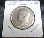 Click here to enlarge image and see more about item 040808003: Kennedy Half Dollar 1973-D