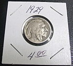 Click here to enlarge image and see more about item 041408002: Indian Head Buffalo Nickel 1929