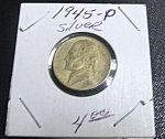 Click here to enlarge image and see more about item 041408007: Jefferson Nickel Wartime 1945-P silver