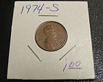 Click here to enlarge image and see more about item 041408012: Lincoln Penny 1974-S