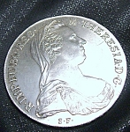 Click here to enlarge image and see more about item 041908005: 1780 MARIA THERESA THALER RESTRIKE AUSTRIAN COIN