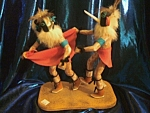 Dancing Kachina doll pair.