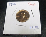 Click here to enlarge image and see more about item 050908006: Lincoln Cent 1956 proof