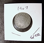 Click here to enlarge image and see more about item 052708001: Liberty Head 'V' Nickel 1907