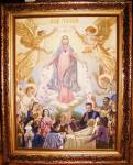 Click here to enlarge image and see more about item 072209002: Ave Maria original Venetian oil painting nearly a half century old