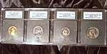 Lot of 4 Cameo PR70 1972-S U.S. coins full strike