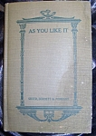 Click here to enlarge image and see more about item 082608002: Shakespeare's As You Like It, 1917 edition