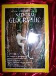 National Geographic August 1988 Centennial edition.Lemurs on the edge.