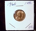 Click here to enlarge image and see more about item 090908020: Lincoln Penny 1960 UNC
