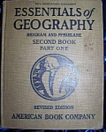 Click here to enlarge image and see more about item 091108003: Essentials of Geography Second Book Part One 1925 HC