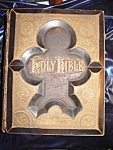 Click here to enlarge image and see more about item 091207004: Antique Family Bible 1882 from Oil City, PA. Leather.