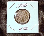 Click here to enlarge image and see more about item 091408001: Indian head Buffalo nickel 1920
