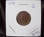 Indian Head Penny 1898 G