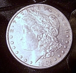 Click here to enlarge image and see more about item 091708011: Morgan Silver Dollar 1896