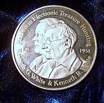 Click here to enlarge image and see more about item 1008008010: White's Electronics Inc. Sweet Home Oregon silver coin