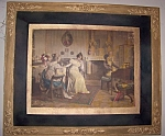 Click here to enlarge image and see more about item 100808011: Antique signed Victorian print by Emil Brack.