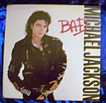 Click here to enlarge image and see more about item 101008003: Michael Jackson 'BAD' vintage LP.