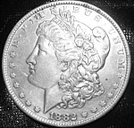 Click here to enlarge image and see more about item 101008012: Morgan Silver Dollar 1882 O