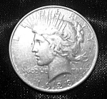 Click here to enlarge image and see more about item 101508001: Peace Silver Dollar 1923