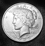 Click here to enlarge image and see more about item 101508002: Peace Silver Dollar 1923