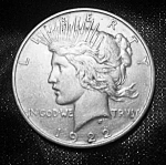 Click here to enlarge image and see more about item 101508003: Peace Silver Dollar 1922