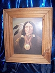 Click here to enlarge image and see more about item 102108001: Framed Print of Indian Man Portrait