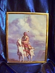 Click here to enlarge image and see more about item 102108004: Framed print of Indian rider with phantom Indian in clouds