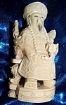 Click here to enlarge image and see more about item 103108001: Ivory figurine of seated oriental man
