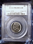 Click here to enlarge image and see more about item 110808014: Jefferson Nickel 1971-S PR68CAM PCGS certified.