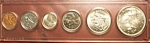 Click here to enlarge image and see more about item 112007012: Canadian coins, set of six encased. Beautiful condition