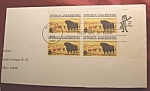 Click here to enlarge image and see more about item 112807002: Rural America block of 4 8c stamps 1st. day of issue