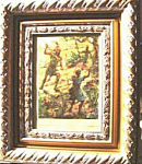 Click here to enlarge image and see more about item 112807010: ORIGINAL COLORED PLATE OF DAVID SLAYS GOLIATH